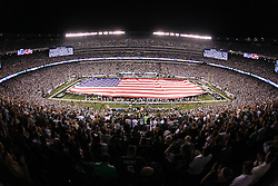 Sept 11, 2011; East Rutherford, NJ, USA;  Pre-game ceremonies commemorating the 10th Anniversary of 9/11 before the game between the New York Jets and the Dallas Cowboys at MetLife Stadium.