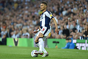West Bromwich Albion defender Kieran Gibbs (3) looks for options during the EFL Sky Bet Championship play-off second leg match between West Bromwich Albion and Aston Villa at The Hawthorns, West Bromwich, England on 14 May 2019.