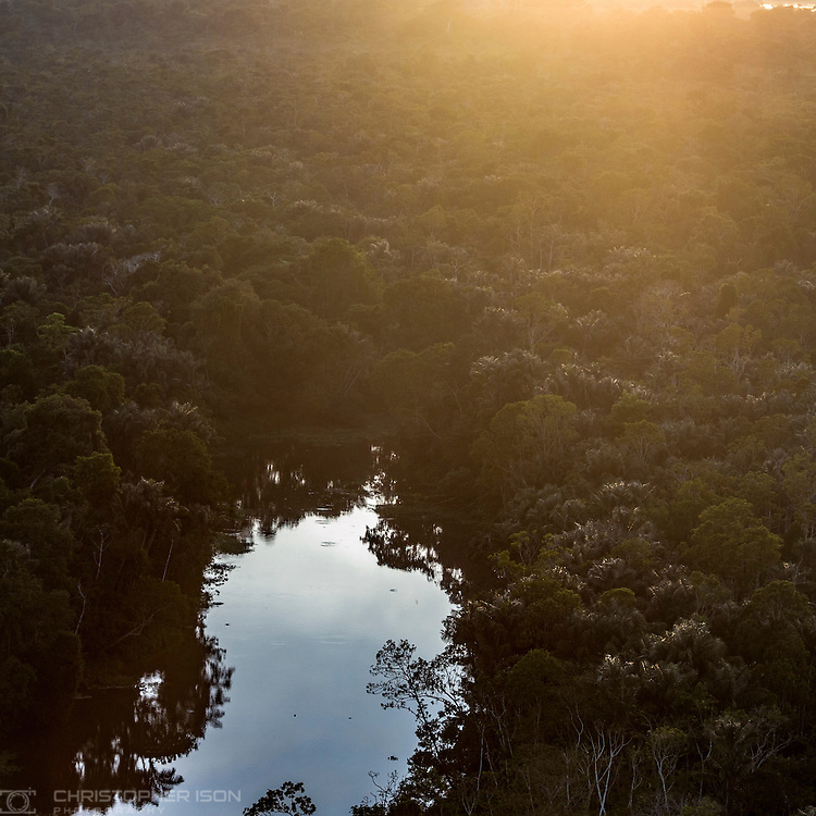 Sunrise in the Amazon. Manaus, Brazil. <br /> Picture date Wednesday 25th January, 2017.<br /> Picture by Christopher Ison. Contact +447544 044177 chris@christopherison.com