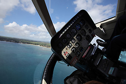 MAURITIUS 5MAY13 - Air Mauritius heilicopter Bell Jetranger flight in Mauritius.<br /> <br /> <br /> <br /> jre/Photo by Jiri Rezac / Greenpeace