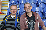 football fans, football supporters during the EFL Sky Bet League 1 match between AFC Wimbledon and Swindon Town at the Cherry Red Records Stadium, Kingston, England on 15 October 2016. Photo by Stuart Butcher.