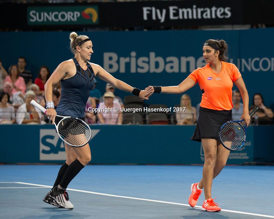 BETHANIE MATTEK-SANDS (USA)-SANIA MIRZA (IND)<br /> <br /> Tennis - Brisbane International  2017 - WTA -  Pat Rafter Arena - Brisbane - QLD - Australia  - 7 January 2017. <br /> &copy; Juergen Hasenkopf