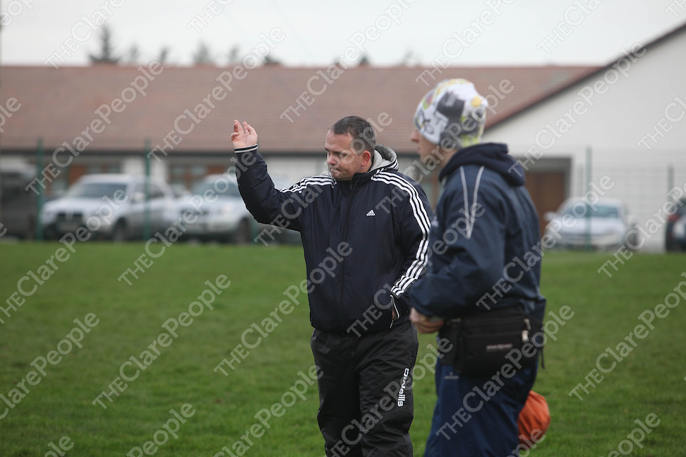 Clares manager David Fitzgerald during thier meeting with Galway in Clarecastle on Sunday.<br /> Pic. Brian Arthur/ Press 22.