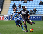 Bury Defender Nathan Cameron during the Sky Bet League 1 match between Coventry City and Bury at the Ricoh Arena, Coventry, England on 13 February 2016. Photo by Chris Wynne.