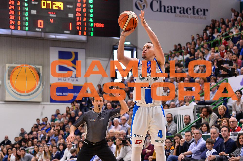 Scott Bamforth<br /> Banco di Sardegna Dinamo Sassari - Germani Basket Leonessa Brescia<br /> Legabasket Serie A LBA PosteMobile 2017/2018<br /> Sassari, 08/04/2018<br /> Foto L.Canu / Ciamillo-Castoria
