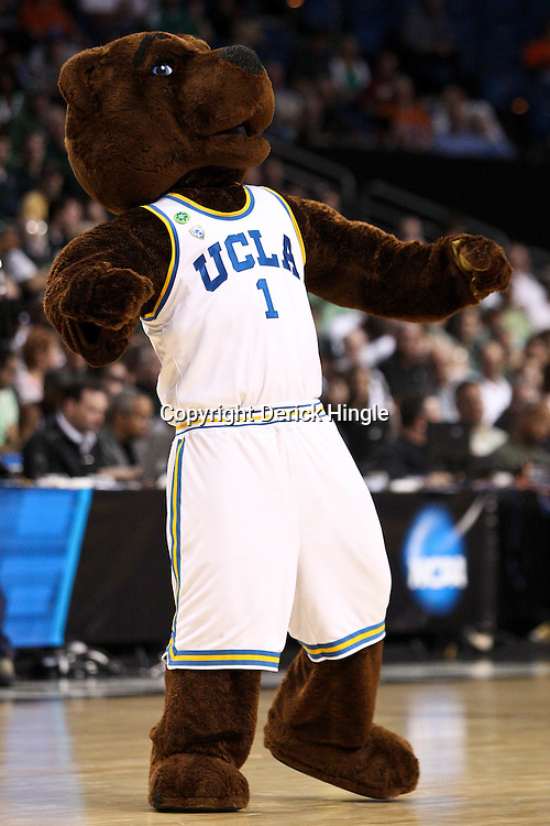 Mar 17, 2011; Tampa, FL, USA; The UCLA Bruins mascot during the second half of the second round of the 2011 NCAA men's basketball tournament against the Michigan State Spartans at the St. Pete Times Forum. UCLA defeated Michigan State 78-76.  Mandatory Credit: Derick E. Hingle