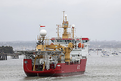 © under license to London News Pictures.  23/05/2011  THE NAVY's NEWEST SHIP, HMS POTECTOR ENTERS PORTSMOUTH HARBOUR FOR THE FIRST TIME. SHE IS THE REPLACEMENT FOR HMS ENDURANCE THAT WAS SO SEVERELY DAMAGED IN A FLOODING INCIDENT. Picture credit should read: Bryan Moffat/London News Pictures