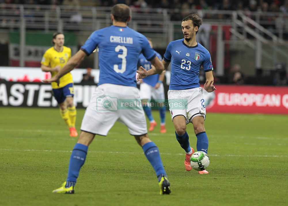 November 13, 2017 - Milan, Italy - Manolo Gabbiadini during the playoff match for qualifying for the Football World Cup 2018  between Italia v Svezia, in Milan, on November 13, 2017. (Credit Image: © Loris Roselli/NurPhoto via ZUMA Press)