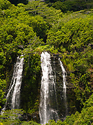View of Opaekaa Falls, near Lihue, Kauai, Hawaii, USA