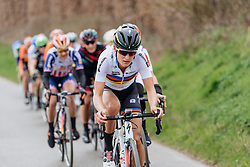 Lizzie Armitstead sets the pace - Women's Gent Wevelgem 2016, a 115km UCI Women's WorldTour road race from Ieper to Wevelgem, on March 27th, 2016 in Flanders, Belgium.