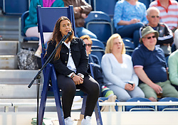 LIVERPOOL, ENGLAND - Saturday, June 23, 2018: Marion Bartolli (FRA) in the umpires chair for the match between Alessandro Giannessi (ITA) and Elias Ymer (SWE) during day three of the Williams BMW Liverpool International Tennis Tournament 2018 at Aigburth Cricket Club. (Pic by Paul Greenwood/Propaganda)