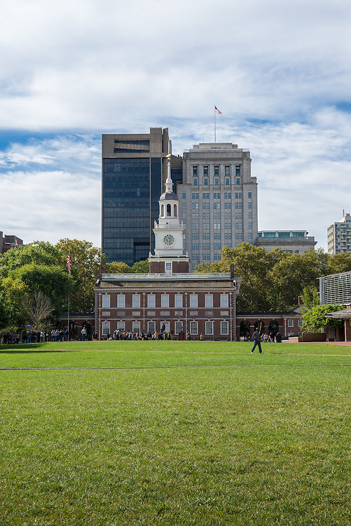Independence Hall facade in Philadelphia