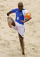 Football-FIFA Beach Soccer World Cup 2006 - Group A-Brasil - Poland, Beachsoccer World Cup 2006. Brasil`s Junior Negao - Rio de Janeiro - Brazil 03/11/2006 <br /> Mandatory credit: FIFA/ Manuel Queimadelos