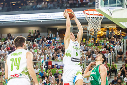 Edo Muric of Slovenia during qualifying match between Slovenia and Bulgaria for European basketball championship 2017, Arena Stozice, Ljubljana on 14th of September 2016, Slovenia. Photo by Grega Valancic / Sportida