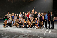 KELOWNA, BC - OCTOBER 24: Figure skating competitors pose for a photo during the gala of  Skate Canada International at Prospera Place on October 24, 2019 in Kelowna, Canada. (Photo by Marissa Baecker/Shoot the Breeze)