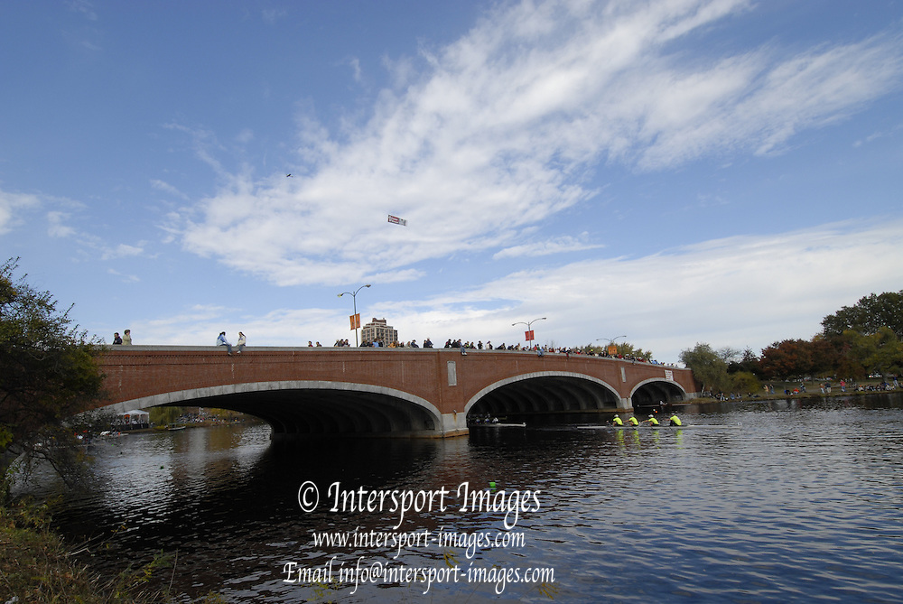 Boston, Massachusetts, from Eliot Bridge, at the Forty Second, [42nd] Head of the Charles, 22/10/2006.  Photo  Peter Spurrier/Intersport Images...[Mandatory Credit, Peter Spurier/ Intersport Images] Rowing Course; Charles River. Boston. USA