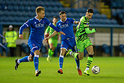 Aaron Collins (#10) of Forest Green Rovers runs at the Carlisle defence during the The FA Cup match between Carlisle United and Forest Green Rovers at Brunton Park, Carlisle, England on 10 December 2019.