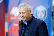 Lucien Favre (Olympique Gymnaste Club Nice Cote d Azur - OGC Nice) during the French Championship Ligue 1 football match between Paris Saint-Germain and OGC Nice on October 27, 2017 at Parc des Princes stadium in Paris, France - Photo Stephane Allaman / ProSportsImages / DPPI