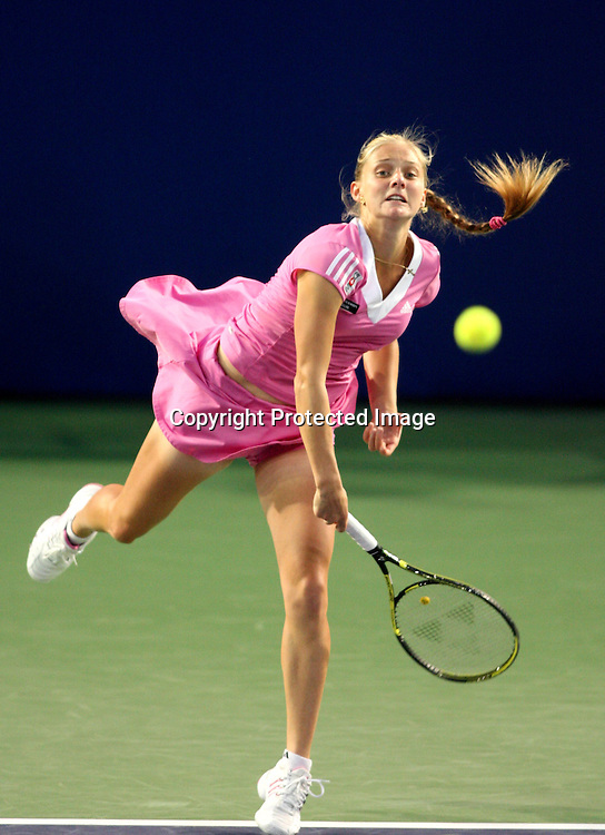 Sep 23, 2008, Beijing, China, Anna Chakvetadze of Russia 2:0 Iveta Benesova of Czech in the first round of China Open at the Beijing Tennis Center.