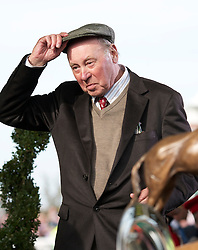 LIVERPOOL, ENGLAND, Saturday, April 9, 2011: Owner Trevor Hemmings celebrates after winning the 2011 Grand National with Ballabriggs during Day Three of the Aintree Grand National Festival at Aintree Racecourse. (Photo by David Tickle/Propaganda)