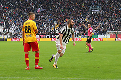 November 5, 2017 - Turin, Italy - Gonzalo Higuain (Juventus FC)  celebrates after scoring during the Serie A football match between Juventus FC and Benevento Calcio on 05 November 2017 at Allianz Stadium in Turin, Italy. (Credit Image: © Massimiliano Ferraro/NurPhoto via ZUMA Press)