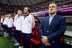 Dick Advocaat, head coach of Russia during the UEFA EURO 2012 group A match between  Greece and Russia at The National Stadium on June 16, 2012 in Warsaw, Poland.  (Photo by Vid Ponikvar / Sportida.com)