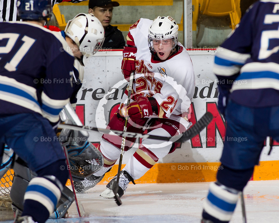 11 November  2011:  Trevor Hills (23) of the Chiefs    during a game between the Chilliwack Chiefs and the Langley Rivermen.  Prospera Centre, Chilliwack, BC.    Final Score: Chilliwack 5  Langley 3   ****(Photo by Bob Frid/Freemotionphotography.ca) All Rights Reserved : cell 778-834-2455 : email: bob.frid@shaw.ca ****