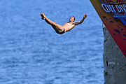 Michal Navratil of Czech Republic during the Red Bull Cliff Diving World Series 2018 on September 23, 2018 in Polignano a Mare, Italy - Photo Marco Verri / ProSportsImages / DPPI