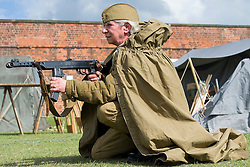Soviet 699th take part in the battle reenactment at Fort Paull <br />