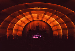Stage and Wide Interior Shot of Radio City Music Hall, New York City Between Sets of The Grateful Dead. Performing at this historic venue on Saturday 25 October 1980.