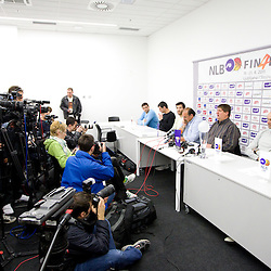 20110418: SLO, Basketball - Press conference before NLB league Final Four Tournament in Stozice, LJ