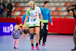 Sanja Gregorc of Slovenia after handball match between Women National Teams of Slovenia and Montenegro in 2016 Women's European Championship Qualification, on October 11, 2015 in Arena Kodeljevo, Ljubljana, Slovenia. Photo by Urban Urbanc / Sportida
