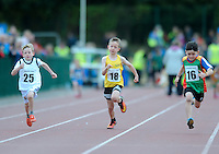 21 Aug 2016:  U8 Boys 80m final.  2016 Community Games National Festival 2016.  Athlone Institute of Technology, Athlone, Co. Westmeath. Picture: Caroline Quinn