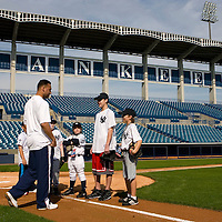 Upper Deck awards kid card collectors a chance to 'Play Ball' with Derek Jeter on Saturday, February 10, 2007 at Legends Field in Tampa, Florida.  Justin Topa, 15, of Binghampton, New York, Jordan Boone, 10, of Las Vegas, Nevada, Bryce Porter, 10, of Costa Mesa, California and Gavin Leonard, 9, of Bristol, Virginia, each won the grand prize to meet Jeter through various promotions on www.UpperDeckKids.com .UPPER DECK/Scott Audette
