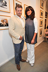 BEN & TRACEY BAMBROUGH at an exhibition of photographs and art works inspired by the story of Christian The Lion in aid of the George Adamson Wildlife Preservation Trust and the Born Free Foundation held at the Queen's Elm Gallery, 241 Fulham Road, London on 15th October 2009.