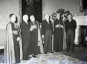 Alibrandi Right Reverent Monsignor Seatano, Albert Levame, Credentials been presented, Naunciture, 10-8-1956 Sean T O'Kelly Áras an Uachtaráin<br />