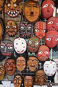 Insa-dong. Traditional wooden masks.