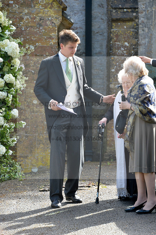 PRINCE FRITZI VON PREUSSEN brother of The Bride at the wedding of Princess Florence von Preussen second daughter of Prince Nicholas von Preussen to the Hon.James Tollemache youngest son of the 5th Lord Tollemache held at the Church of St.Michael & All Angels, East Coker, Somerset on 10th May 2014.