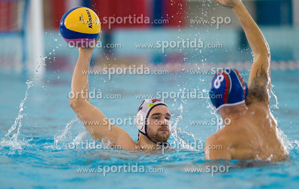 Rok Crnica of Slovenia at waterpolo match between National men teams of Slovenia and Bulgaria in Qualifications for European Championships in Eindhoven 2012 on October 30, 2010 in Zusterna pool, Koper Slovenia. Slovenia defeated Bulgaria 31 - 5. (Photo By Vid Ponikvar / Sportida.com)