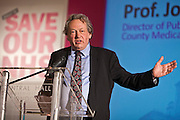 Professor John Ashton Regional Director of Public Health and Regional Medical Officer for the North West  who having signed a published letter against the Bill  was told by his bosses at NHS Cumbria that his actions amounted to inappropriate behaviour. This week as the governments controversial Health and Social Care Bill enters its final stages in the House of Lords, patients, health workers and campaigners are to come together on Wednesday for a TUC-organised Save Our NHS rally in Westminster. On Wednesday (7 March 2012) over 2,000 nurses, midwives, doctors, physiotherapists, managers, paramedics, radiographers, cleaners, porters and other employees from across the health service will join with patients to fill Central Hall Westminster. Once inside they will listen to speeches from politicians, fellow health workers, union leaders and health service users.