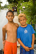 Children, Huahine, French Polynesia