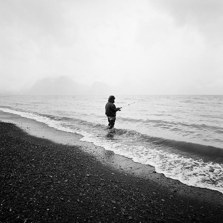 SEWARD, ALASKA - 2006: Silver Salmon Fishing.