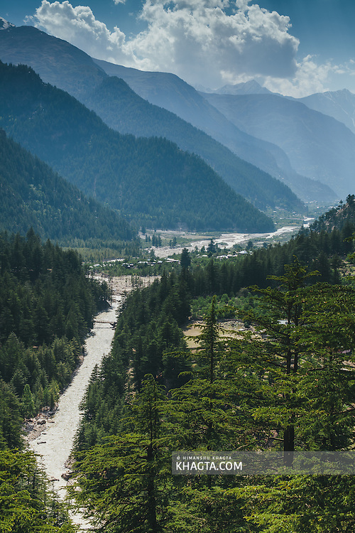 Landscape of Sangla Valley, Kinnaur