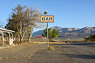 USA,Nevada, Humboldt County, Winnemucca, abandoned gas station north of town,American Desertscapes Bar