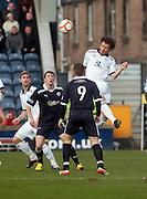 Matt Lockwood dominates in the air - Raith Rovers v Dundee..- © David Young - .5 Foundry Place - .Monifieth - .DD5 4BB - .Telephone 07765 252616 - .email; davidyoungphoto@gmail.com - .web; www.davidyoungphoto.co.uk.