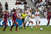Ada Hegerberg to OL and Jennifer Beattie of Manchester City during the UEFA Women's Champions League, semi final, 2nd leg football match between Olympique Lyonnais and Manchester City on April 29, 2018 at Groupama stadium in Décines-Charpieu near Lyon, France - Photo Romain Biard / Isports / ProSportsImages / DPPI