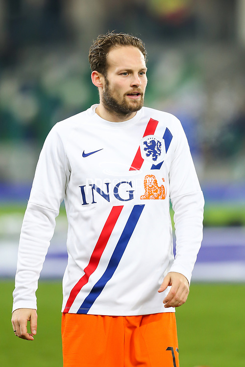 Netherlands defender Daley Blind (17) during the warm up ahead of the UEFA European 2020 Qualifier match between Northern Ireland and Netherlands at National Football Stadium, Windsor Park, Northern Ireland on 16 November 2019.