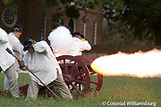 Firing a cannon salute for the Declaration of Independence at the Capitol.