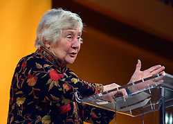 © Licensed to London News Pictures. 08/03/2013. Brighton, UK. Dame Shirley Williams talks to delegates on International Women's Day at the Party Rally Liberal Democrat Spring Conference in Brighton today 8th March 2013. Photo credit : Stephen Simpson/LNP