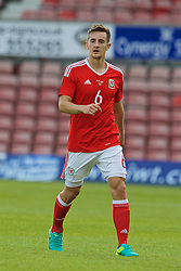 WREXHAM, WALES - Friday, September 2, 2016: Wales' Thomas Lockyer in action against Denmark during the UEFA Under-21 Championship Qualifying Group 5 match at the Racecourse Ground. (Pic by Paul Greenwood/Propaganda)